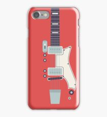 Jack White JB Hutto Montgomery Ward Airline Guitar (Red) iPhone Case/Skin