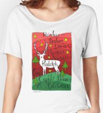 Reindeer Names Women's Relaxed Fit T-Shirt