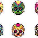 Sugar Skulls Sticker Sheet by EsotericExposal
