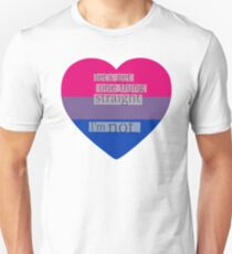 Let's get one thing straight, I'm not - bisexual heart flag Unisex T-Shirt