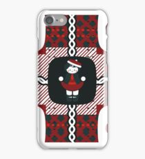 Little School Girl Red, White, & Navy iPhone Case/Skin