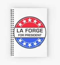 LA FORGE FOR PRESIDENT Spiral Notebook