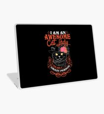 I am an Awesome Cat lady Laptop Skin