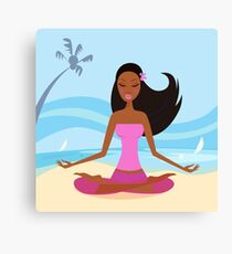 New in Shop : hand-drawn Joga / PINK Canvas Print