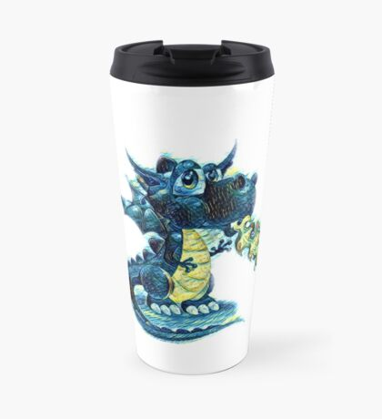 Draco art pattern Van Gogh style  Travel Mug