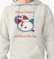 Meowie Christmas and Meowie New Year 2 Pullover Hoodie