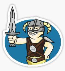 Dovahkiin Vault boy mash-up Skyrim/Fallout Parody Sticker