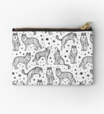 Wolves and Stars on White Studio Pouch