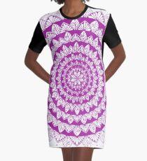 Purple Mandala Graphizen Graphic T-Shirt Dress