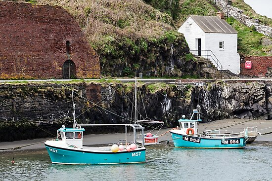 Fishing Boats, Porthgain Harbour, Pembrokeshire by Heidi Stewart