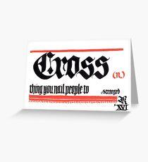 Cross, noun Greeting Card