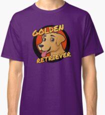 Camiseta clásica Lindo Golden Retriever Cartoon