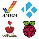 Amiga Tick & Wordmark - Raspberry Pi Case Sticker by ChoccyHobNob