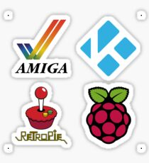 Amiga Tick & Wordmark - Raspberry Pi Case Sticker Sticker