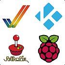 Amiga Tick - Raspberry Pi Case Sticker by ChoccyHobNob