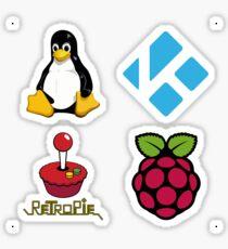 Tux Logo - Raspberry Pi Case Sticker Sticker
