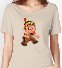 Cute retro Kid Billy as a Native Indian Women's Relaxed Fit T-Shirt