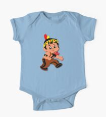 Cute retro Kid Billy as a Native Indian One Piece - Short Sleeve