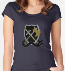 Shield bash design Women's Fitted Scoop T-Shirt