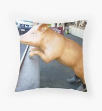 Cute Tail & Boots Throw Pillow
