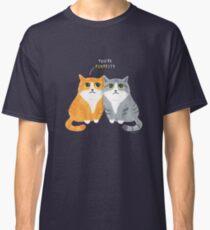 Purretty Kitties - Cute Cat Couple / Buddies Classic T-Shirt