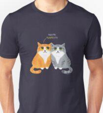 Purretty Kitties - Cute Cat Couple / Buddies Unisex T-Shirt
