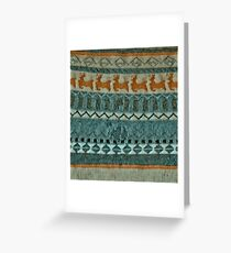 Holmes Christmas Jumper in Blue Acrylic Greeting Card