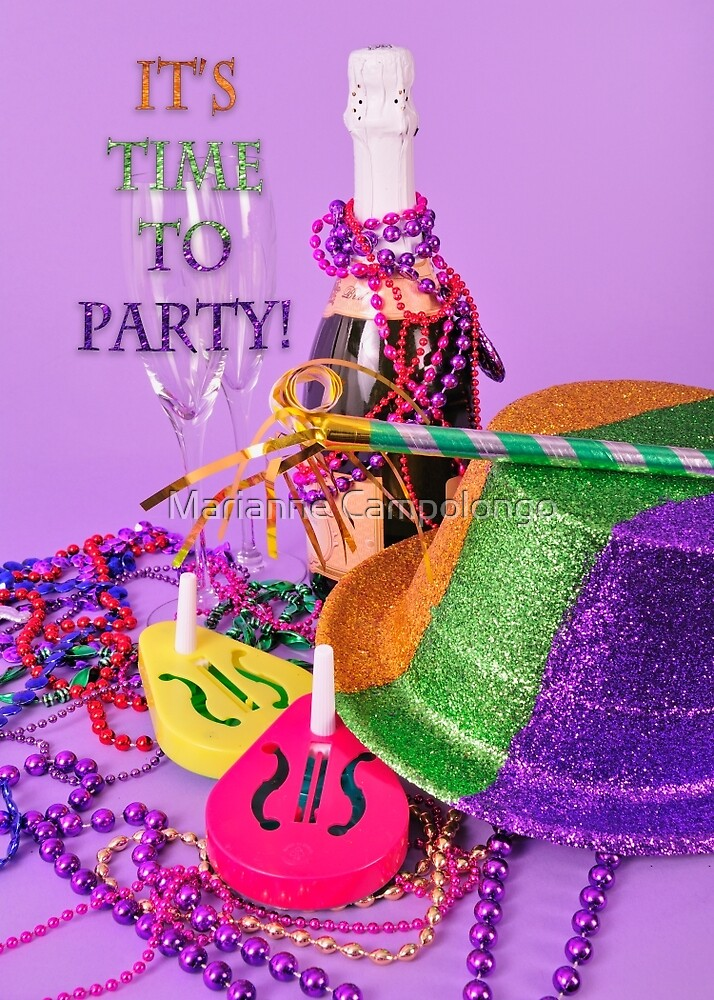 It's a Party New Year's invitation by Marianne Campolongo