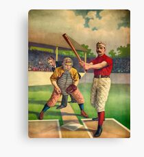 Vintage Baseball Player - Cool Retro Sports Color Poster Shirts And Gifts Canvas Print