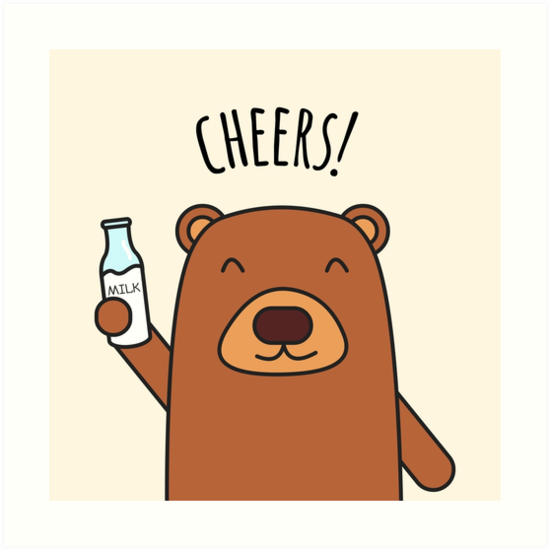 Cheers Bear! by cartoonbeing