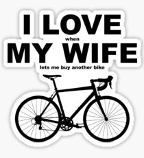 I LOVE MY WIFE* Sticker