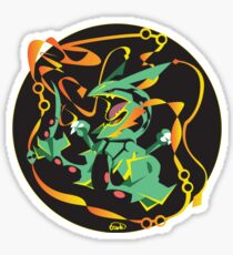 Delta Dragon Circle Sticker