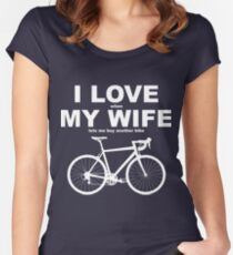 I LOVE MY WIFE* Women's Fitted Scoop T-Shirt