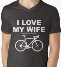 I LOVE MY WIFE* Men's V-Neck T-Shirt