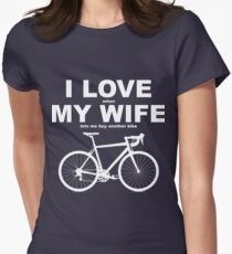 I LOVE MY WIFE* Women's Fitted T-Shirt