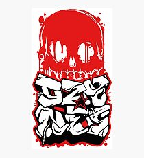 Skull Paint (Red) Photographic Print