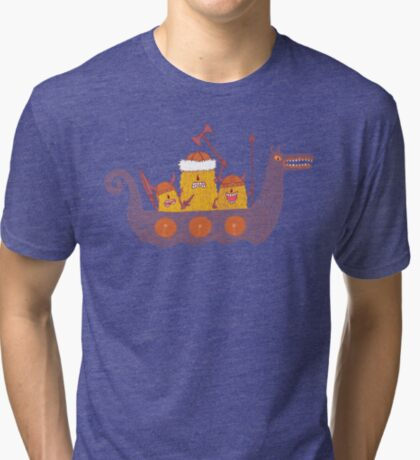 Viking Party Animals in a  Dragon Boat Tri-blend T-Shirt