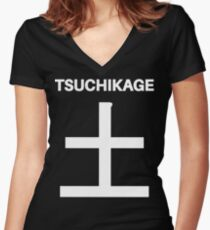 Kage Squad Jersey: Tsuchikage Women's Fitted V-Neck T-Shirt