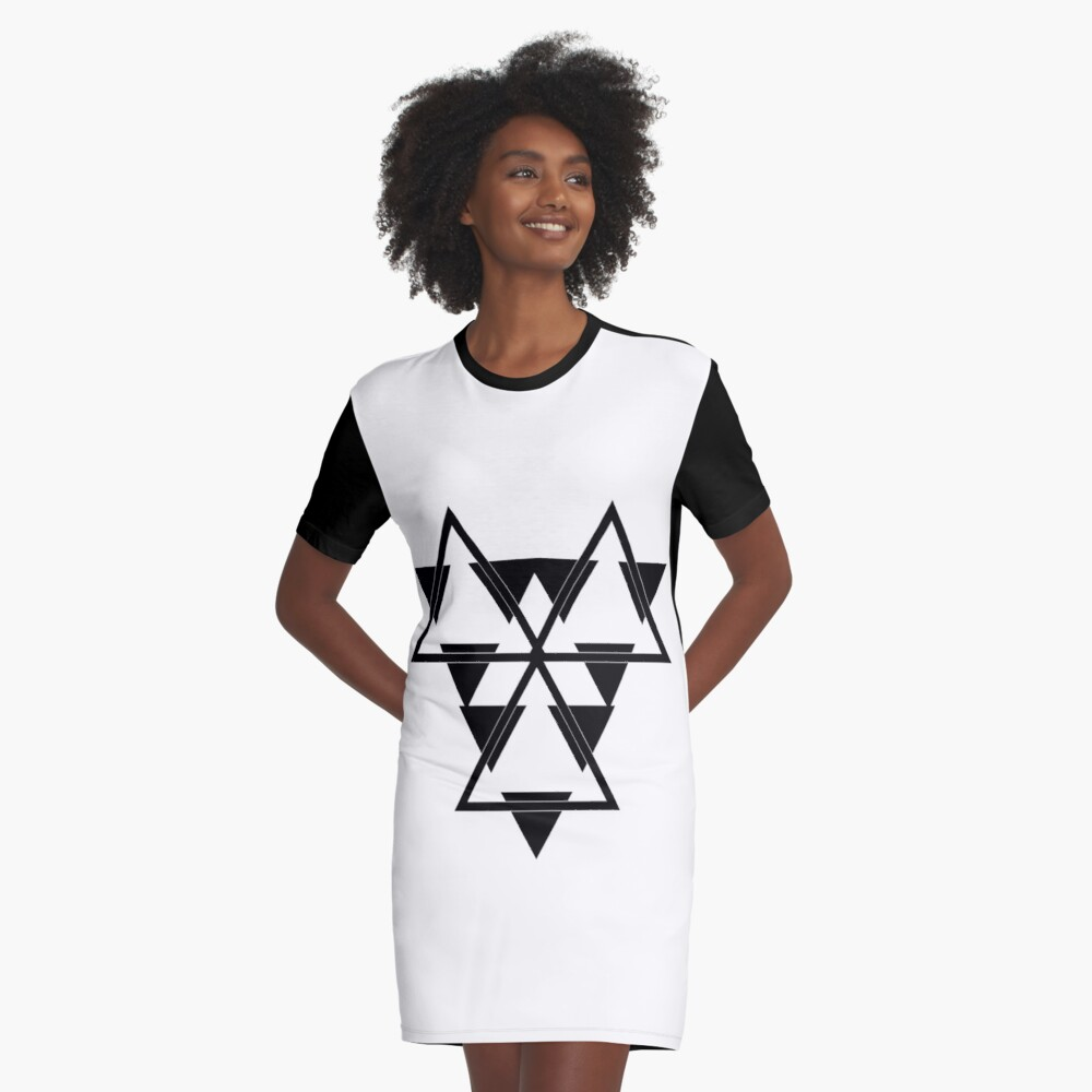 Battlestar Graphic T-Shirt Dress Front