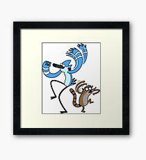 Mordecai & Rigby Framed Print