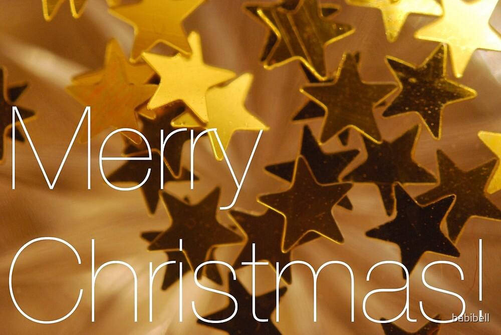 Christmas Stars - Gold by babibell