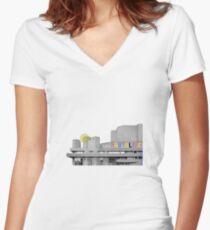 Brutalist Women's Fitted V-Neck T-Shirt