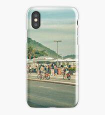 Copacabana Sidewalk Rio de Janeiro Brazil iPhone Case