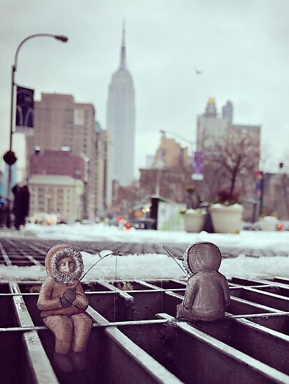 lonely eskimos - empire state building by Confuseddoodles