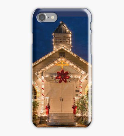 Vieux Village Vintage Church in Opelousas, Louisiana iPhone Case/Skin