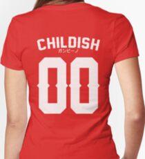 Childish Jersey v2: White Women's Fitted V-Neck T-Shirt
