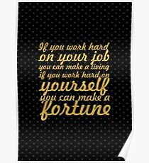 """If you work... """"Jim Rohn"""" Life Inspirational Quote Poster"""