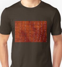 Rust colored snake leather cloth imitation Unisex T-Shirt