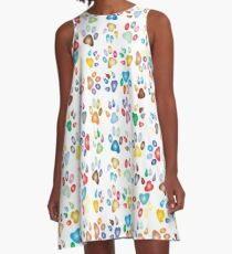 Paws of Love (cats, dogs, etc) A-Line Dress