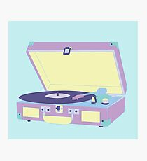 Record Player Photographic Print